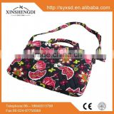 New style cotton bright quilted textile printing portable name brand laptop bags
