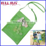 FFA-83 Four colors pure cotton Wholesale Children Mesh Shell bag collect tote bag, shell collecting bag