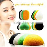 Face-wash Konjac Sponge With Bamboo Charcoal made in China