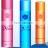 perfumed female Deodorant Body spray mist