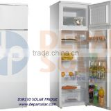 200L Solar Refrigerator 12/24VDC for Village, Camp, Caravan Fridge , Africa, Rural Electrification DC compressor Freezer System