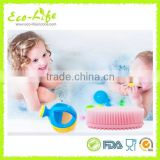New Hot Silicone Softy Body Facial Cleaning Brush For Baby, shower/spa silicone massage brush