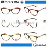 Full-frame bright candy color demi pattern plastic frame best selling small durable acetate optics reading glasses frames