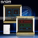 hotel door bell system with room number sign for hotel use glass touch doorbell switch doorbell with night light