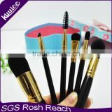 Popular high quality synthetic hair 6pcs air brush make up with bag