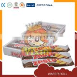 Wafer roll with choco filling in box package