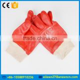 Safety Working Waterproof Acid And Alkali Resistant Knitted Cuff PVC Glove