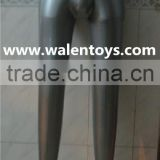 Inflatable Mannequin, Male Leg Form, Black,silver