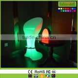 Unbreakable Light up Bar Stools LED Round Stool Seat,LED High Bar Chair Stool, Light-emitting Plastic Chairs Round Flash Stool