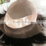 hand tied toupee/hair piece/lace wigs