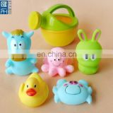 cute animal pvc soft baby bath toy, baby bath water squirt toy for kids