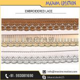 New Uniquely designed Border Lace For Royal Party Wear Dresses By Maxim Creation