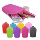 Fashion Silicone Cosmetic Makeup Bag Coin Purse Wallet Phone Case for Ladies
