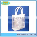 China fashion custom plastic gift bag shopping plastic storage bag button handle