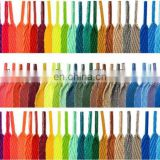 Cheap 100% polyester flat colorful casual shoe lace