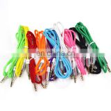 Durable Shoelace Textile Earphone Male Plug Auto Music AUX Connector Cable