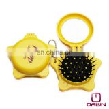 Star shaped hair brush with mirror for promotion CD-MP504