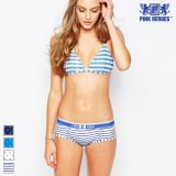 Ocean wind series printed couple underwear, ladies triangle underwear OEM / ODM