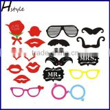 Wedding Decoration Popular Glasses Photo Booth Props DIY Mask PFB0014