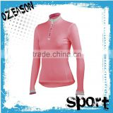 Specialized cycling clothing custom women's pink long sleeve cycling jersey for winter