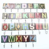 Antique Metal Letters hooks and Hanger for decoration of house and hanging cloth