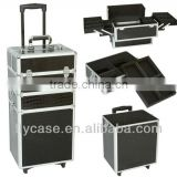 aluminium frame+PU aluminum trolley cases with aluminum tool set made in China                                                                         Quality Choice