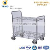 Warehouse Logistic Workshop Steel Wire Foldable Trolley Cart CA11