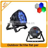 Outdoor led flat par cans light 9pcs * 15w rgbw lighting led flat par can / led par cans