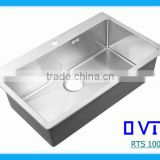 Brushed Stainless Steel Kitchen Single Big Sink-RTS 100B-1`