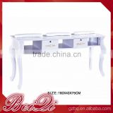 Classic European Style Manicure Table Beauty wood nail salon furniture table Manicure Table