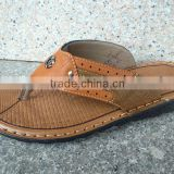 New Style Leisure Men's Flip-flops Leather Man Soft Bottom Anti-skid Eva Slippers