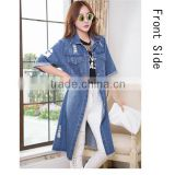 DJ213681 new design apparel for woman jeans jacket in 2014/fashionable lady denim jean jacket