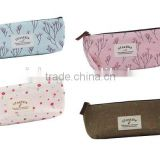 Generic Floral Canvas Different Colors Cute Girls Pen Bag Pencil Case Cosmetic Makeup Bag Pouch Pocket Case Pack Of 4