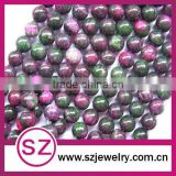 Hot sale colorful red green jade gemstone beads strands