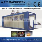 3 station forming-cutting-stacking thermoforming machine line for PP clear food container with lid