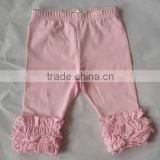 Toddler clothing boutique baby ruffle leggings children candy icing capris