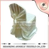 Wholesale satin self -tie banquet chair cover wedding                                                                         Quality Choice