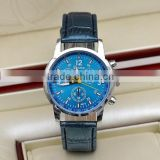 Vogue Leather Strap Harmonize Colors Watch Unisex Gender GENEVA Brand Men Relojes Hombre