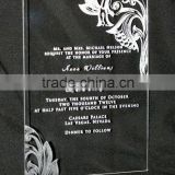 High Transparent custom wholesale acrylic invitation