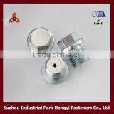 Hex Flange Head With Hole In Center Bolt Zinc Plated Carbon Steel Made In China Mainland