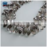 China top quality 8*13mm transparent teardrop raindrop faceted glass beads for decorating