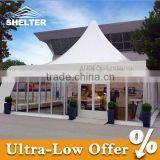 10*10m span Aluminum structure Glasswall Polygonal clear roof tent for events parties weddings