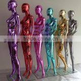 Chrome customized colorful female window display modern mannequin