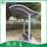 Outdoor Hot-Dipped Galvanized Steel & Pc Sheet Transparent Plastic Awning Aluminum Pergola