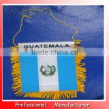 8*12cm custom satin custom banner,guatemala banner flag,mini roll up banner