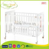 WBC-03A EN71 high quality adjustable unfinished wooden adult baby crib