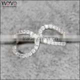 fashion wholesale american gold plated paved diamond ring