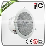 ITC VA-506 0.75W to 9W Optional Power Output Upscale Fire Alarm Used Fire Resistant Ceiling Speaker with Aluminium Frame