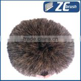 Soft boar bristle pig hair 100% natural pig hair Hog soft bristle flow through bristle brush