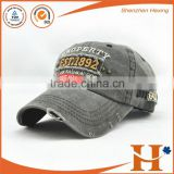 Custom High Quality 3D Embroidery stone washed baseball cap and hat,Embroidered washed sports cap torn                                                                         Quality Choice